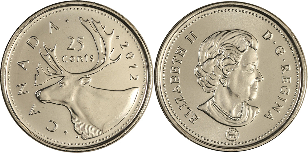 Tiền canada hôm nay 25 cent