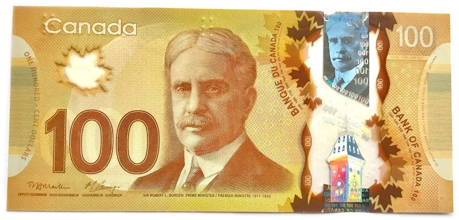 Tiền canada hôm nay đồng 100 dollar