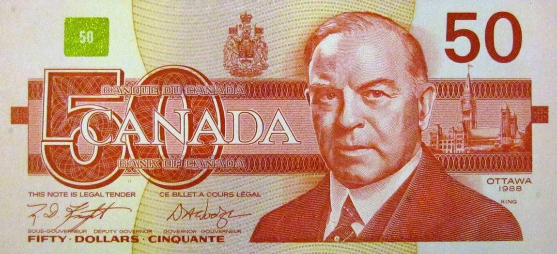 Tiền canada hôm nay đồng 50 dollar