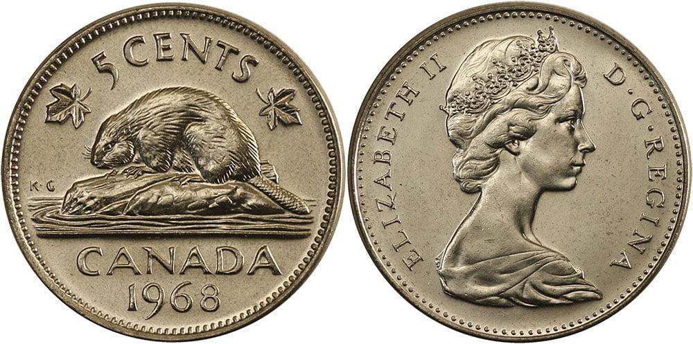 Tiền canada hôm nay đồng 5 cent