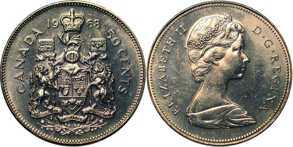 Tiền canada hôm nay đồng 50 cent